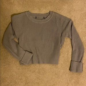 Grey cropped sweater WORN ONCE